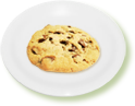 Cookie on a plate