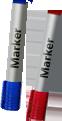 Wide-nib marker