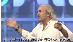 Image derived from a screen capture of Mix09 video