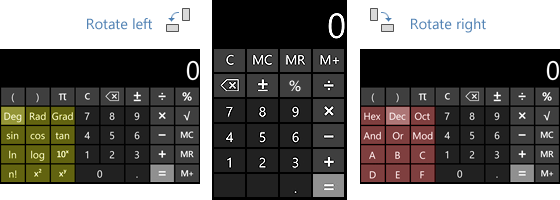 Windows Phone calculator