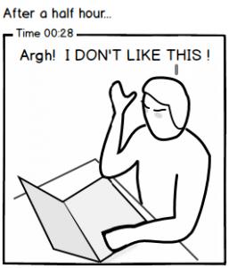 Test participant after 28 minutes